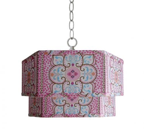 Large Pink Moroccan Double Pendant