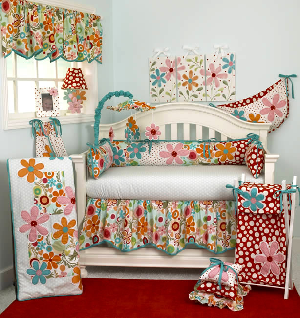 Lizzie 4 Piece Crib Bedding Set by Cotton Tale Designs Thumbnail 1
