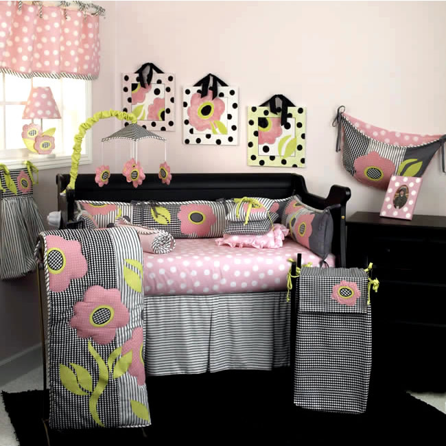 Poppy 4 Piece Crib Bedding Set by Cotton Tale Designs Thumbnail 1