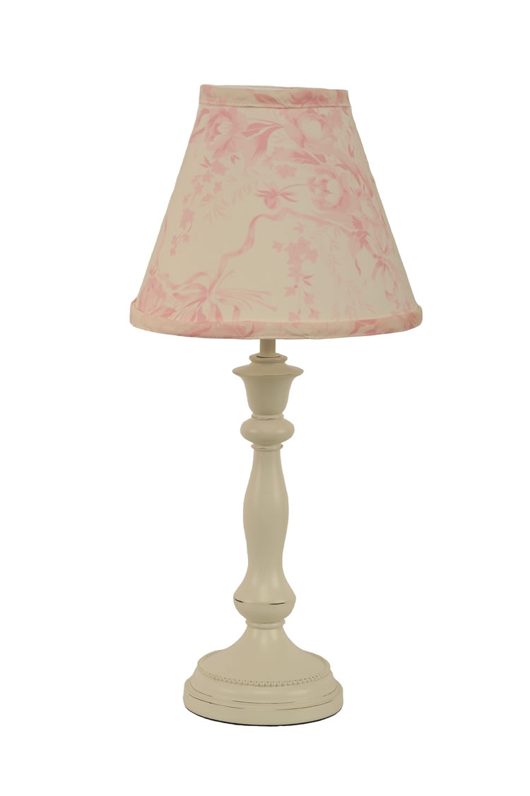 Pink and Cream Lamp Shade by Cotton Tale Designs
