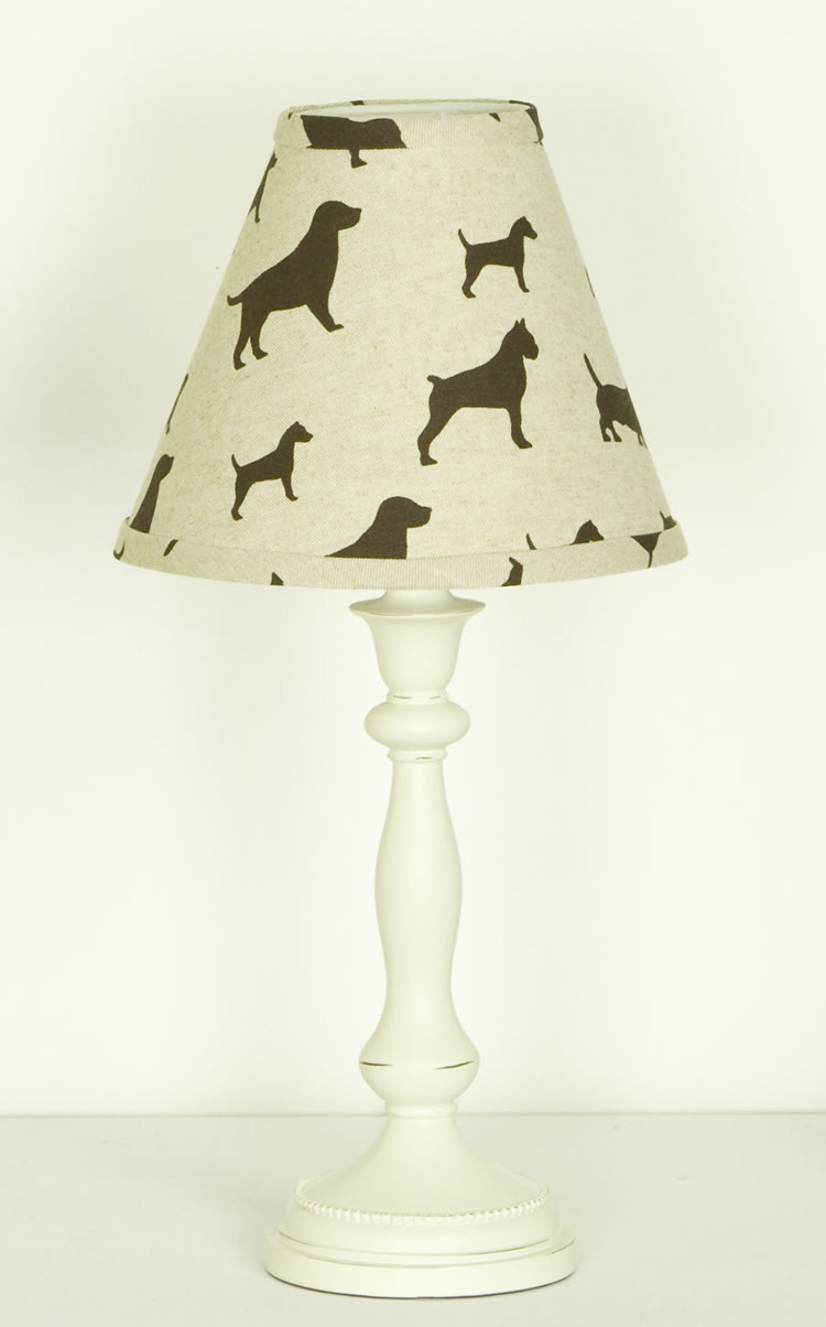 Dog theme lamp shade by Cotton Tale Designs