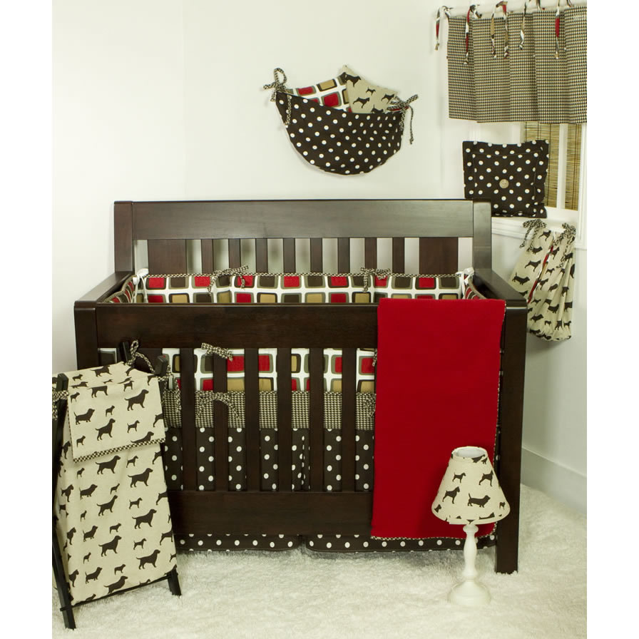 Cotton Tale Houndstooth Crib Bedding Collection