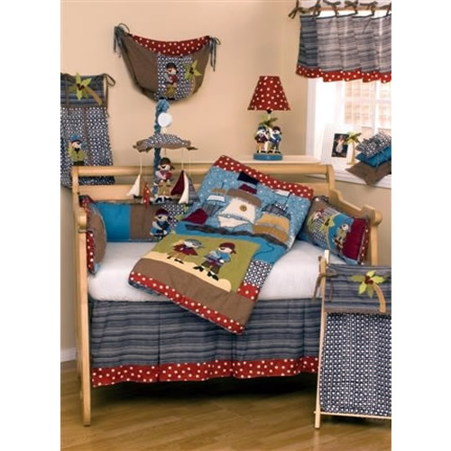 Pirates Cove 4 Piece Crib Bedding Set by Cotton Tale Designs Thumbnail 1