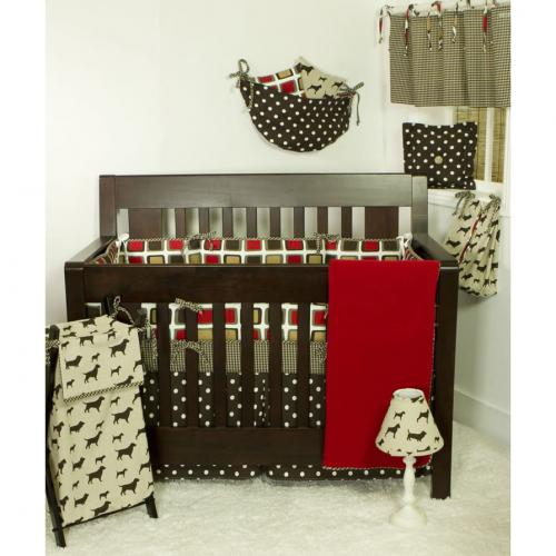 Houndstooth 4 Piece Baby Bedding Set by Cotton Tale Designs Thumbnail