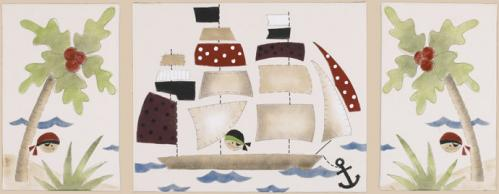 Pirates Cove Wall Art 3Pc Set by Cotton Tale Designs