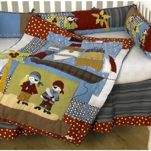 Pirates Cove 4 Piece Crib Bedding Set by Cotton Tale Designs Thumbnail