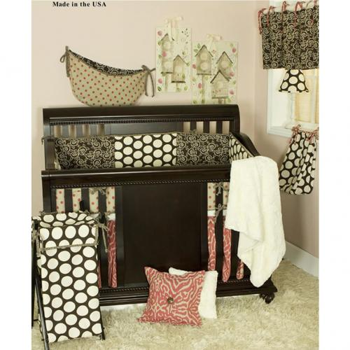 Raspberry Dot 4 Piece Infant Bedding Set by Cotton Tale Designs Thumbnail