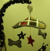 Houndstooth Musical Mobile by Cotton Tale Designs