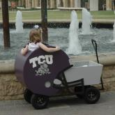 Football Helmet Wagon TCU