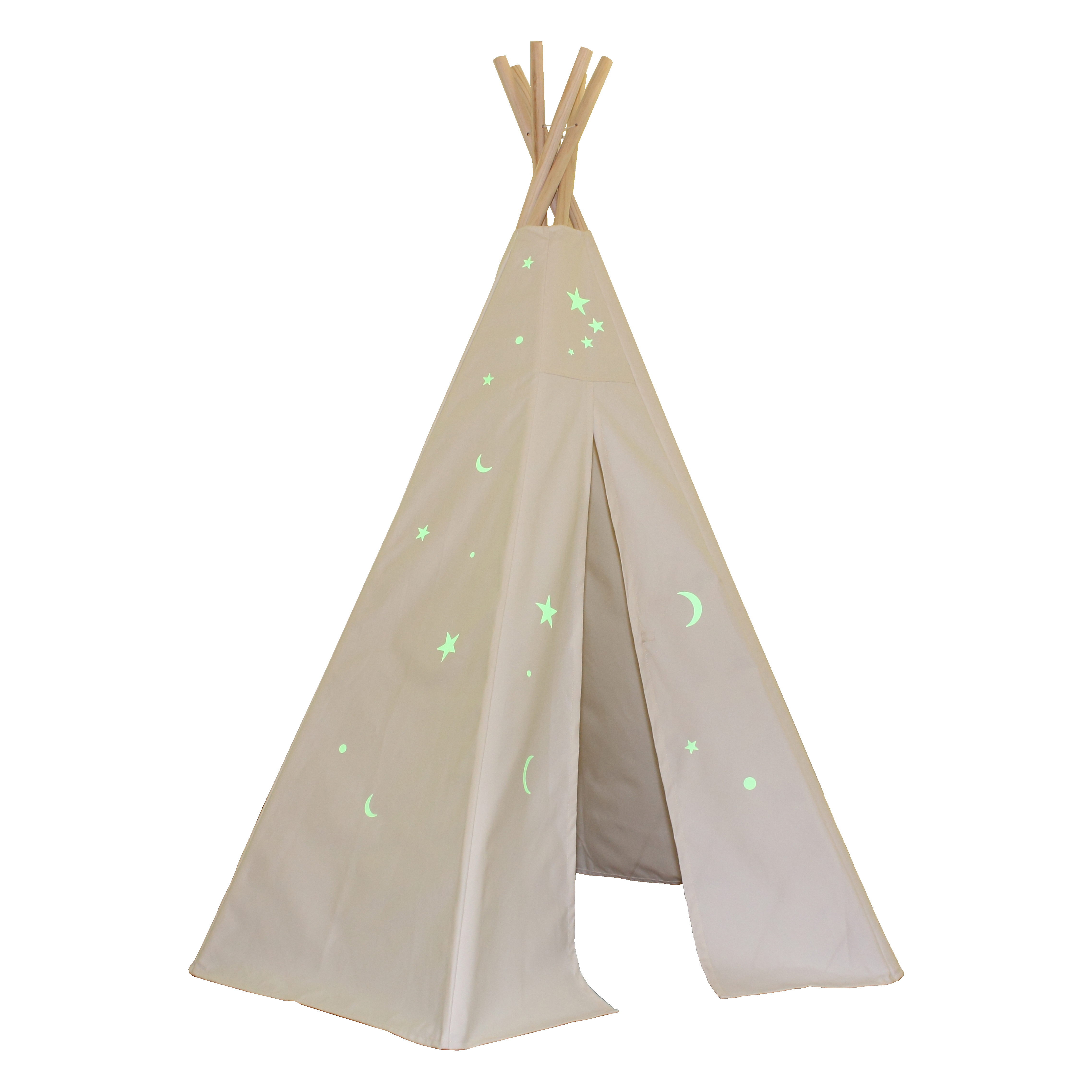 6ft Great Plains Teepee w/ Glow in the Dark Stars Thumbnail 1