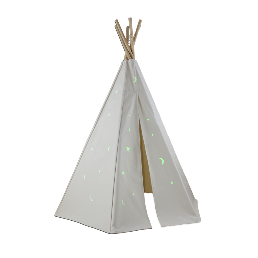 6ft Great Plains Teepee w/ Glow in the Dark Stars Thumbnail 2