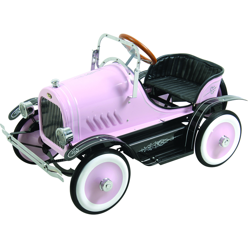 Deluxe Pink Roadster Pedal Car Thumbnail 2