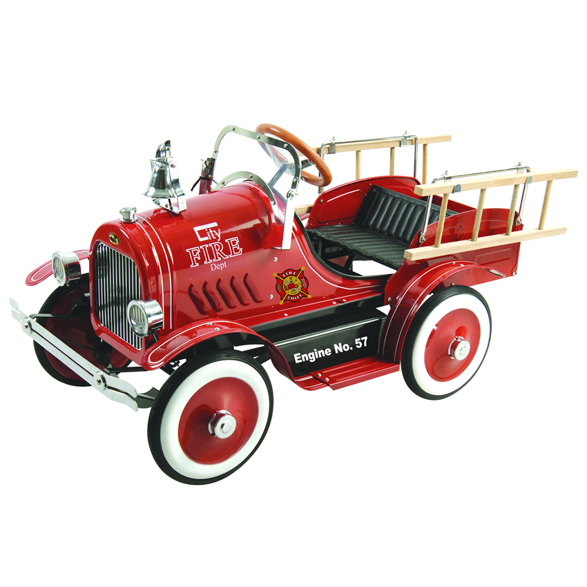 Deluxe Fire Truck Pedal Car Thumbnail 1