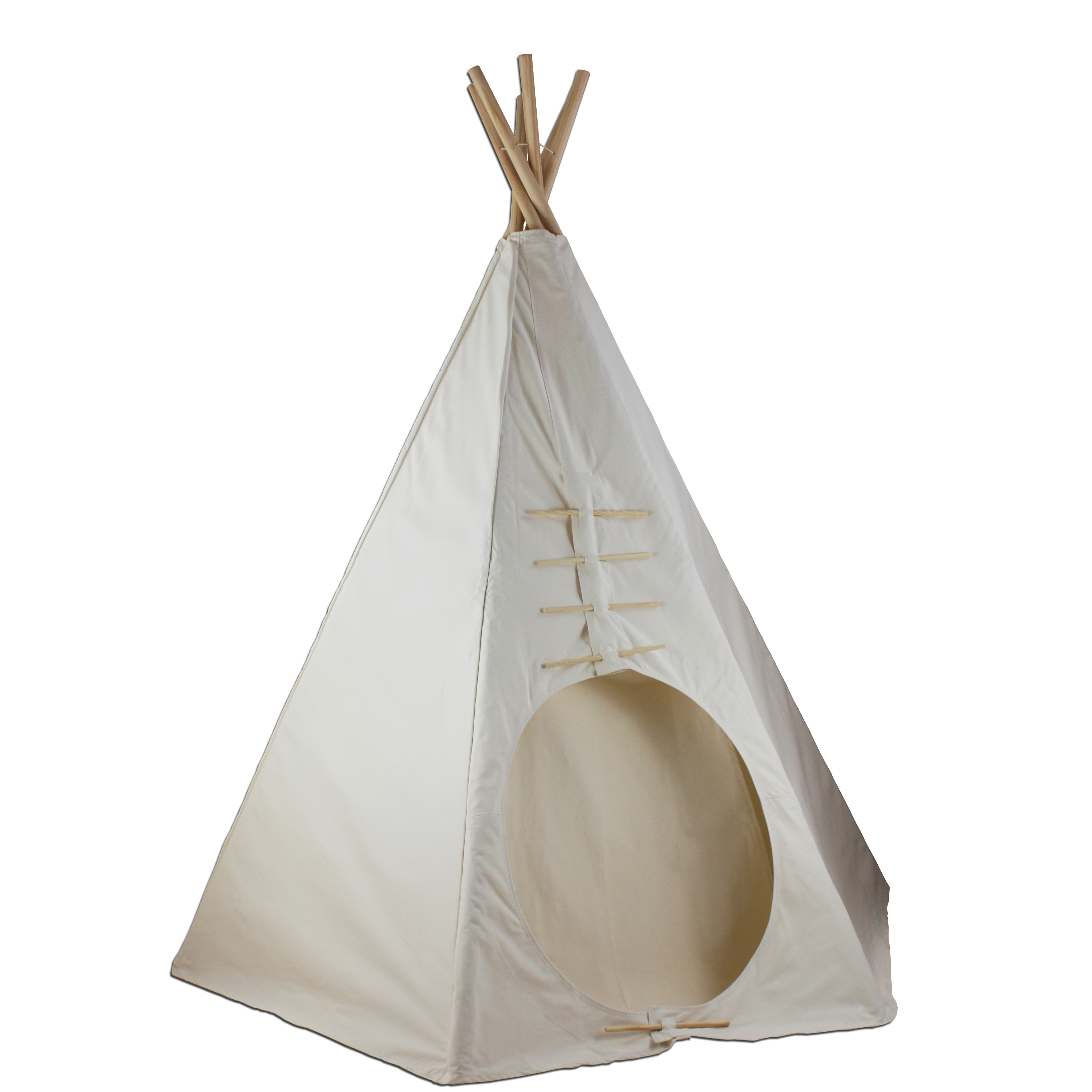 7.5ft Paintable Powwow Lodge Round Door Teepee (6 Panel) Thumbnail 1