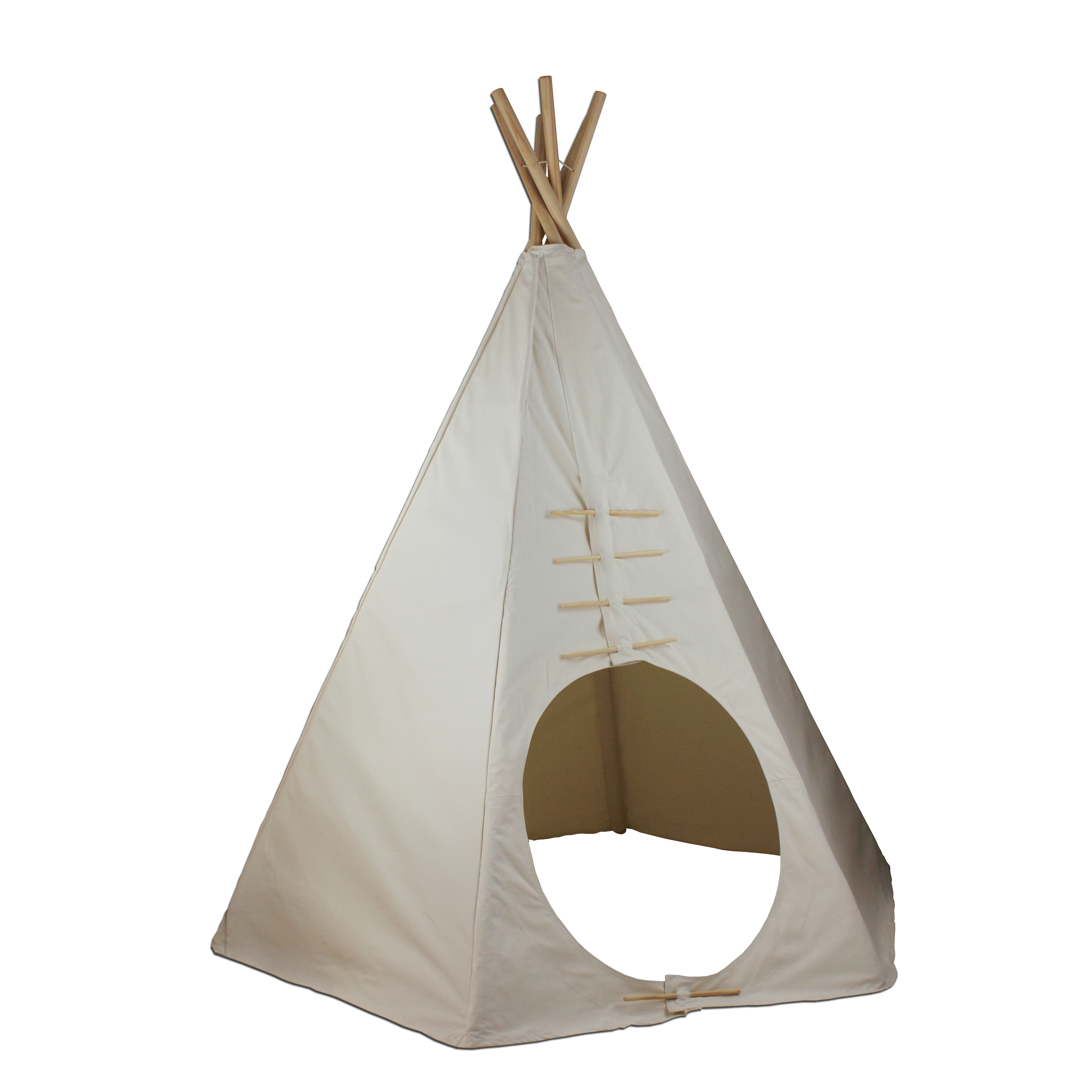 7.5ft Paintable Powwow Lodge Round Door Teepee (6 Panel) Thumbnail 2