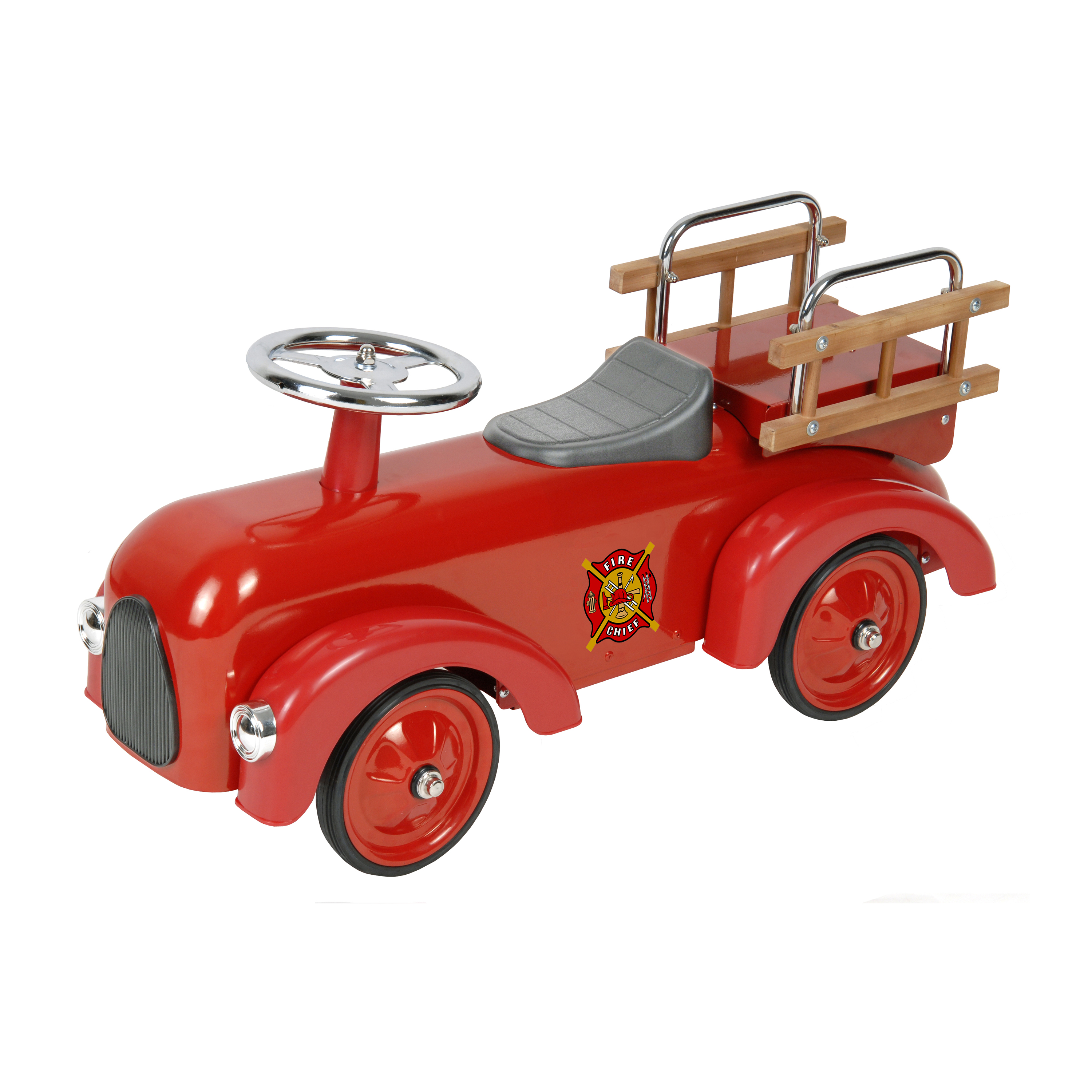 Classic Fire Engine Foot to Floor Racer Thumbnail 2