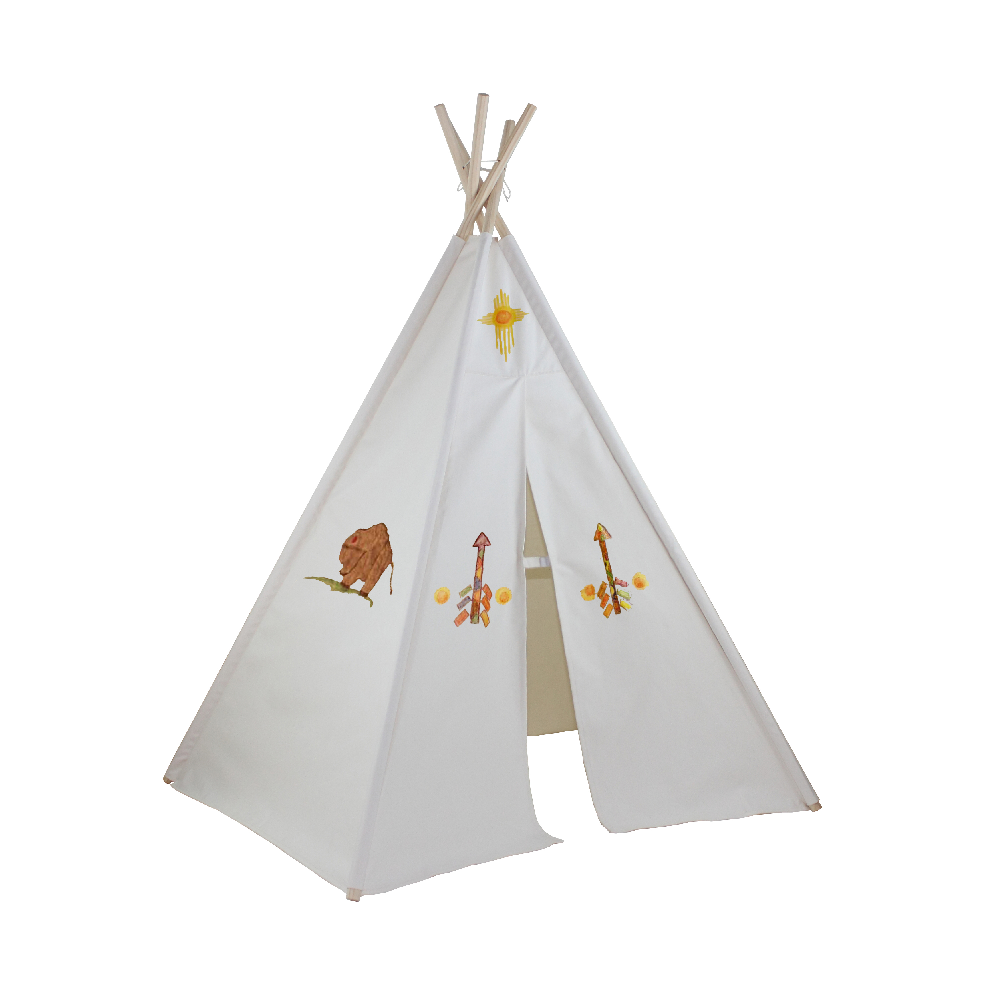 6ft Hideaway Five Panel Teepee w/ Washable Markers Thumbnail 1