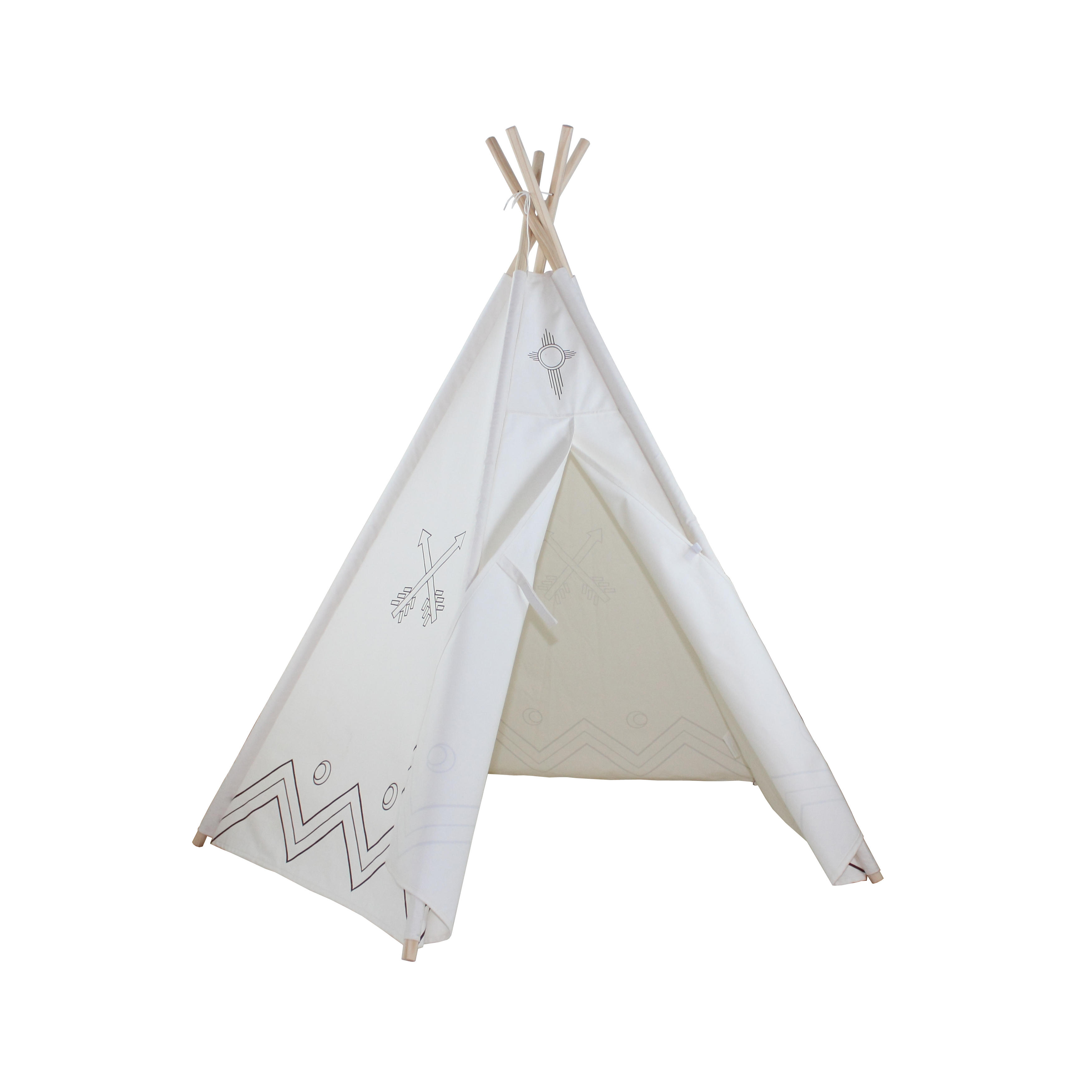 6ft Paintable Hideaway Color-My-Own Five Panel Tepee Thumbnail 1