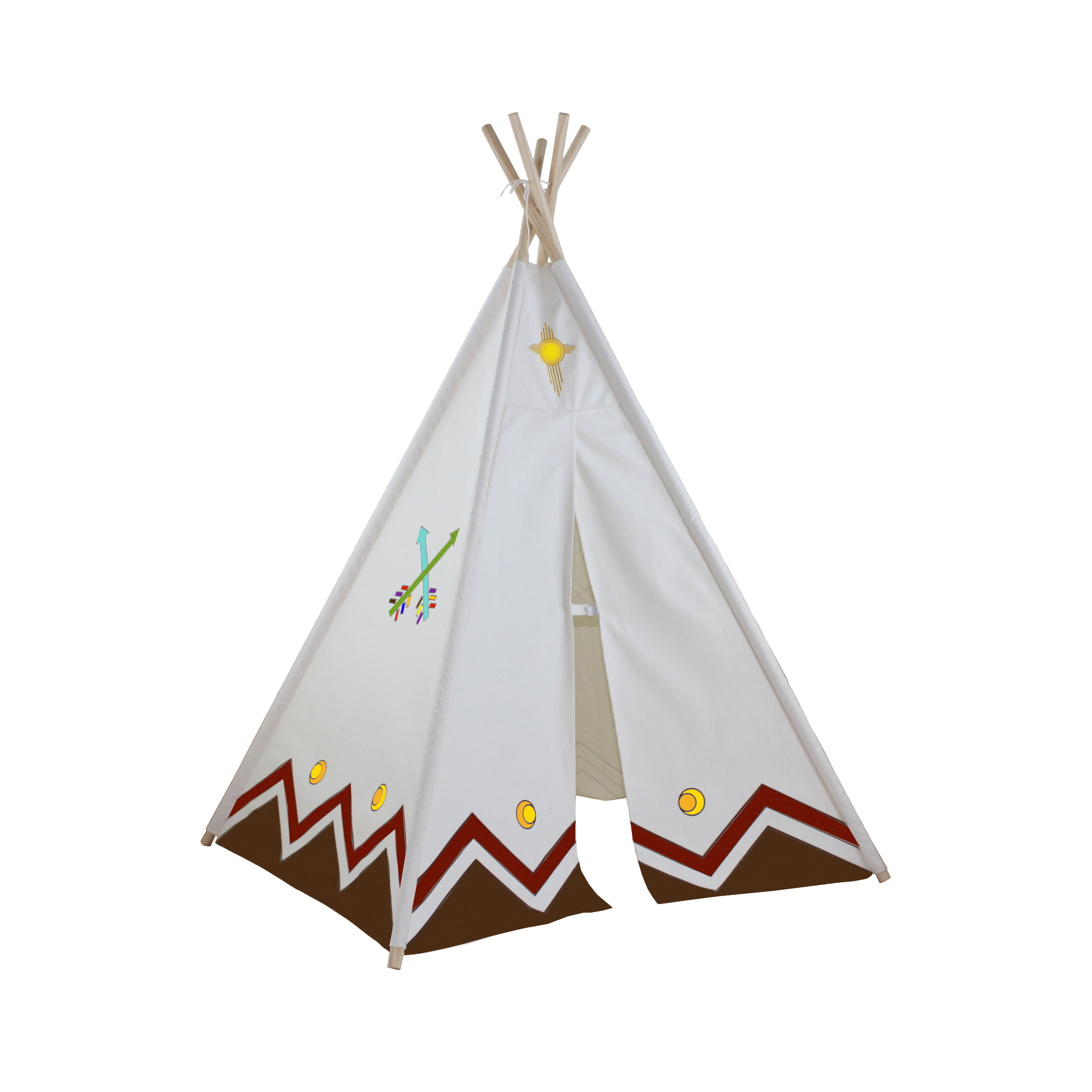 6ft Paintable Hideaway Color-My-Own Five Panel Tepee Thumbnail 2