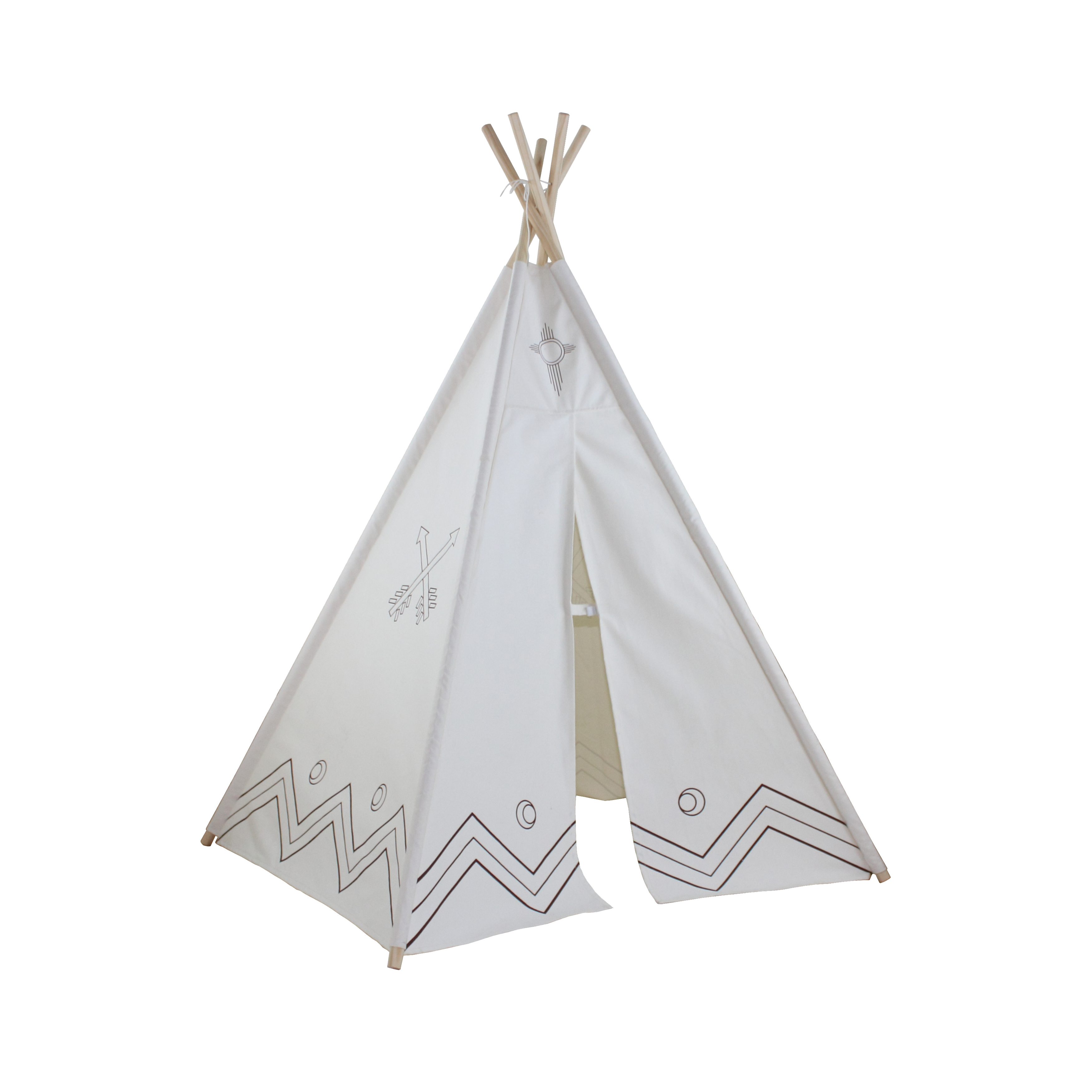 6ft Paintable Hideaway Color-My-Own Five Panel Tepee Thumbnail 3