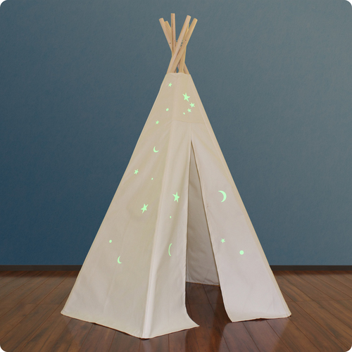 6ft Great Plains Teepee w/ Glow in the Dark Stars Thumbnail