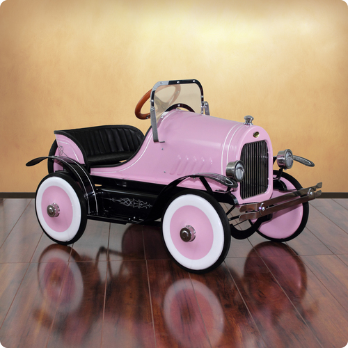 Deluxe Pink Roadster Pedal Car Thumbnail