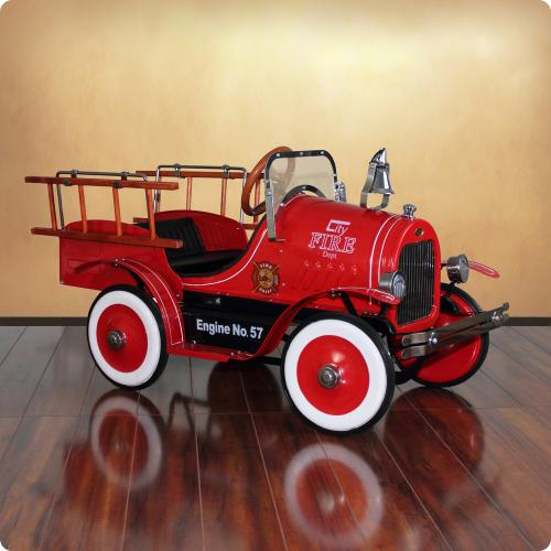 Deluxe Fire Truck Pedal Car Thumbnail