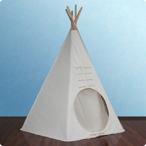 7.5ft Paintable Powwow Lodge Round Door Teepee (6 Panel) Thumbnail