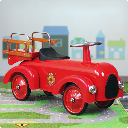 Classic Fire Engine Foot to Floor Racer Thumbnail