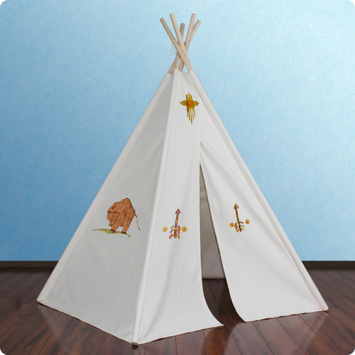6ft Hideaway Five Panel Teepee w/ Washable Markers Thumbnail