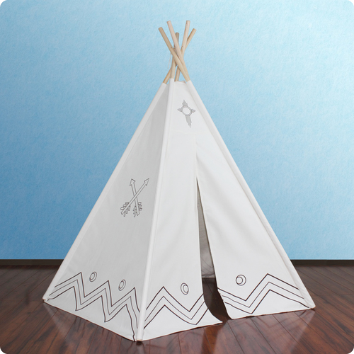 6ft Paintable Hideaway Color-My-Own Five Panel Tepee Thumbnail