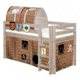 Pirate Midsleeper Loft Bed by Flexa, Shown in Terra