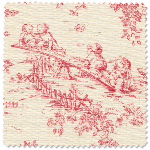 Isabella Kids Pink Toile Fabric By Glenna Jean