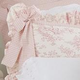 Isabella Toile Pillow Sham with Bow by Glenna Jean