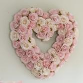 Rosebud Heart Wreath Wall Hanging by Glenna Jean