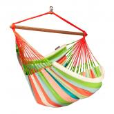 Coral Striped Hammock Chair Lounger