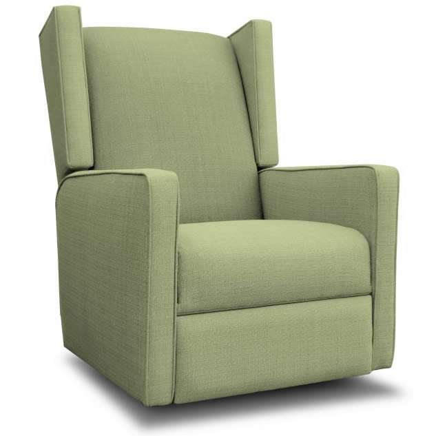 Wing Recliner Glider In Marine W White For ADULTS