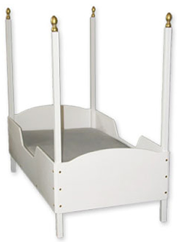 White Four Poster Toddler Bed