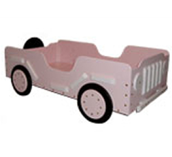 Little Soldier Toddler Bed - Pink