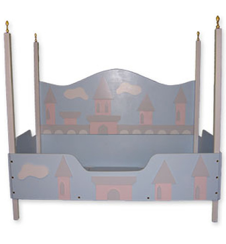 Four Poster Princess Toddler Bed