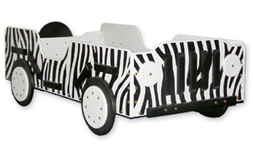 Zebra Print Toddler Bed