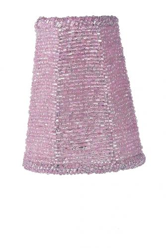 Pink Irridescent Glass Bead Sconce Shade by Jubilee