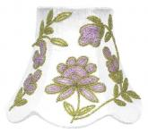 Lavender/Green Beaded Flower Chandelier Shade by Jubilee