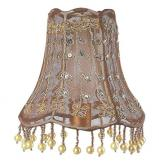 Vine Pearl Chandelier Shade in Taupe by Jubilee