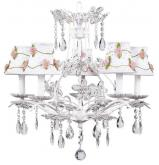 White 5-Arm Cinderella Chandelier (optional White Floral Shades)