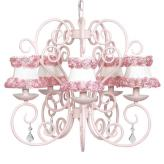 Pink Carriage 5-Arm Chandelier (optional Pink Floral Shades)