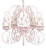 Pink Carriage 5-Arm Chandelier (optional Pink Ribbon Shades)