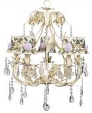 Ivory 5-Arm Ballroom Chandelier (optional Rose Flower Shades)