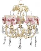 Ivory 5-Arm Ballroom Chandelier (optional Ivory/Pink Shades)