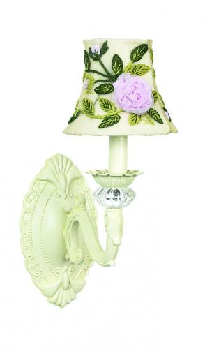 Ivory Turret Wall Sconce shown with Ivory Rose Shade by Jubilee